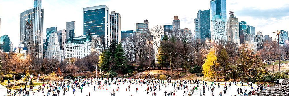 Central Park's Wollman Rink Pista Hielo NYC